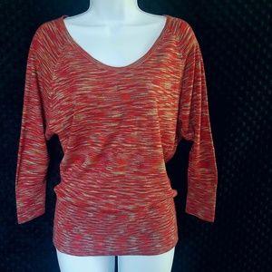 Loft dolman sleeve space dyed sweater top